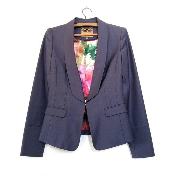 NEW | Ted Baker Wool Plunge Front Blazer Jacket